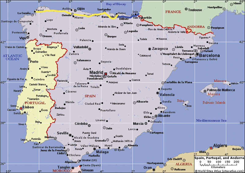 Map Of North Spain Coast.Across Green Spain By Narrow Gauge Rail