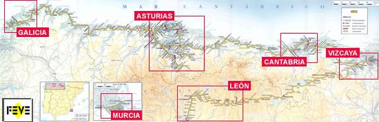 Trains In Spain Map.Across Green Spain By Narrow Gauge Rail